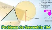 Problema de Geometría 194 (ESL): Área del Triangulo, Semiperímetro, Exradio, Circunferencia Exinscrita.