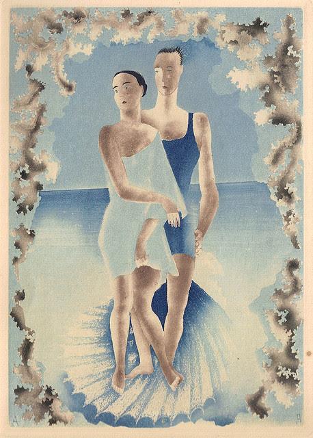 darksilenceinsuburbia:  Alexeieff illustration for Voyage au Pays des Articoles by Maurois, 1927
