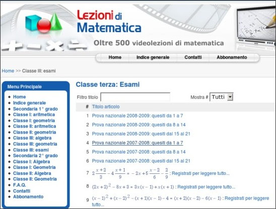 http://videolezioni.matematicamente.it/index.php?option=com_content&view=category&id=52&Itemid=87