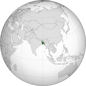 English: Bangledesh orthographic projection