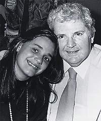 Em 1986, com Flávia Soares: as duas caras-metades