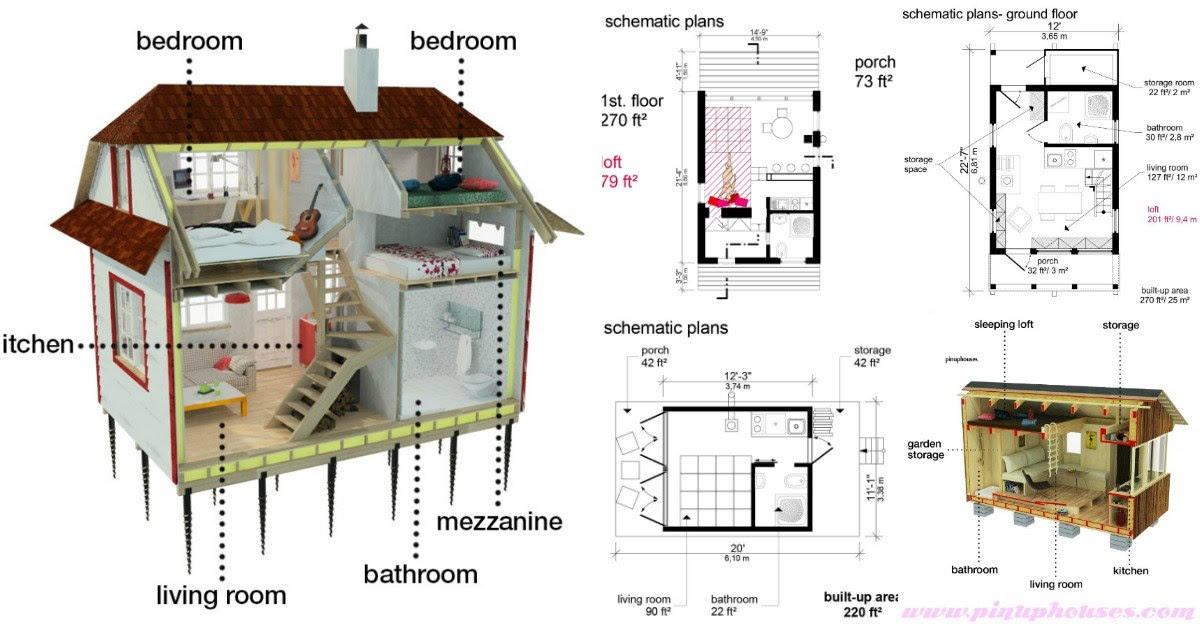 5 Plans to Build Your Own Fully Customized Tiny House on a ...