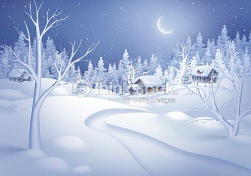 白色冬の自然風景のイラストの森の背景冷凍 ストックイラストレーション