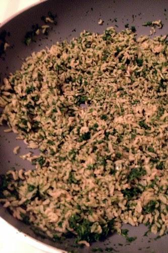 Very green rice