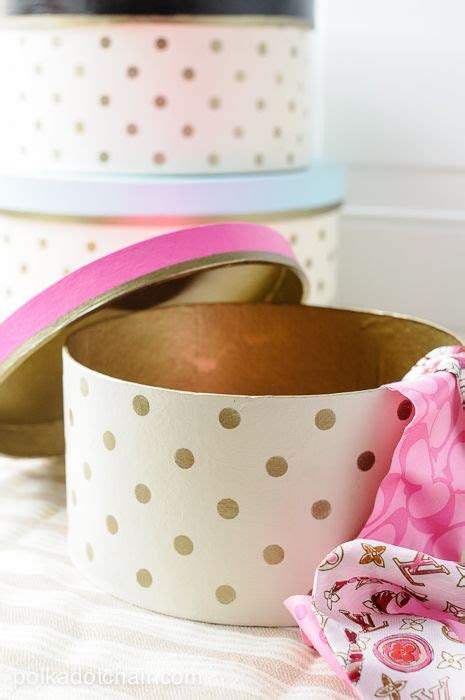 How to decorate hat boxes. Polka Dot Hat box tutorial