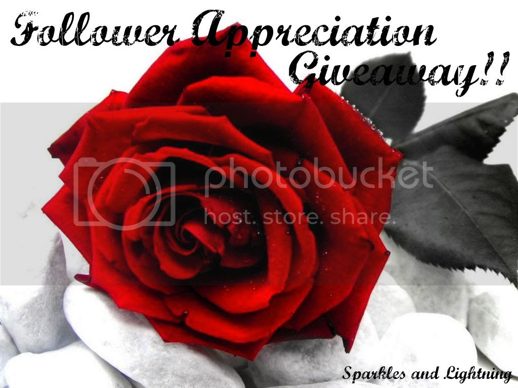 Sparkles and Lightning Followre Appreciation Giveaway