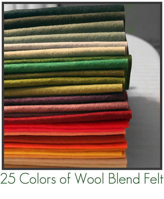 Wool Blend Felt for Friday's Giveaway!! 25 colors!