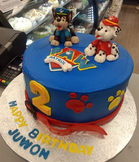 Blue Paw Patrol Birthday Cake by Goodies Bakery Winnipeg