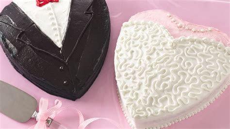 Bride and Groom Shower Cakes Recipe   BettyCrocker.com