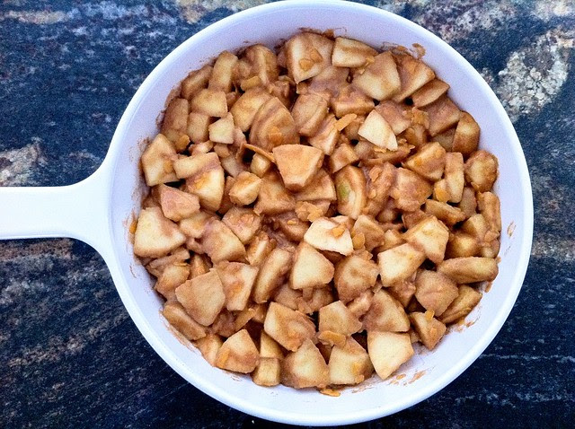 Apples Added to Baking Dish
