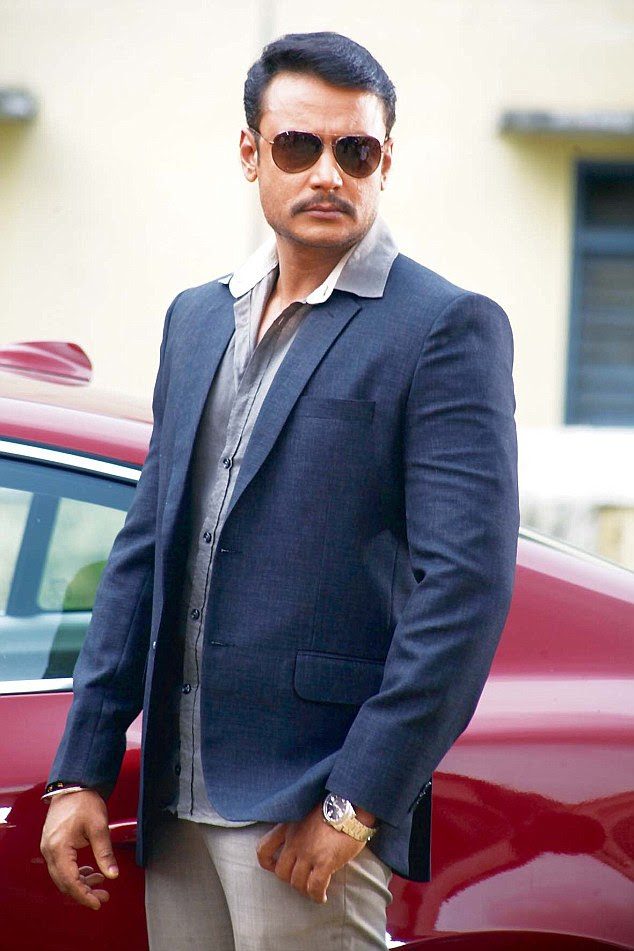 Moviestar Darshan Thoogudeepa is facing police action after he allegedly abused his wife and kicked a security guard in a dispute over a car