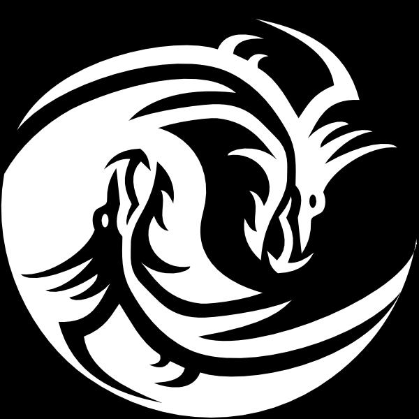 Unduh 72  Gambar Animasi Naga Hitam Putih  Terbaik