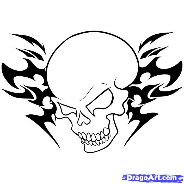 Free Easy Cool Skull Drawings Download Free Clip Art Free Clip Art