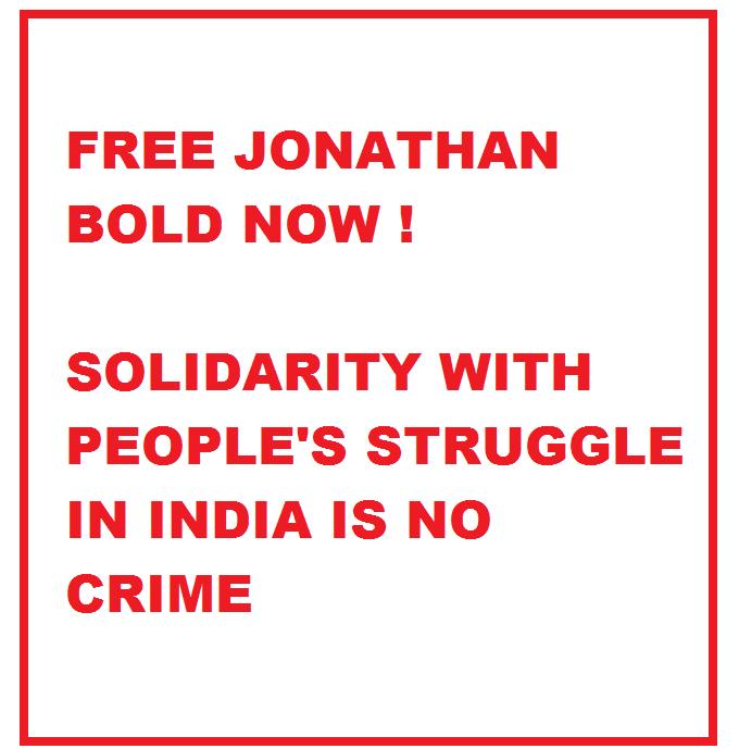 Liberté pour Jonathan, arrêté en Inde