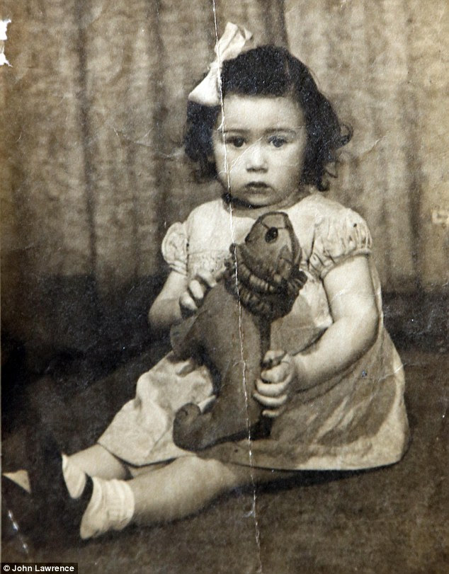 Rita pictured at 18 months in 1948. She was taken in by Lily Corden, a factory worker, and Harold, a bus driver, and they had a 15-year-old son when Rita entered their lives