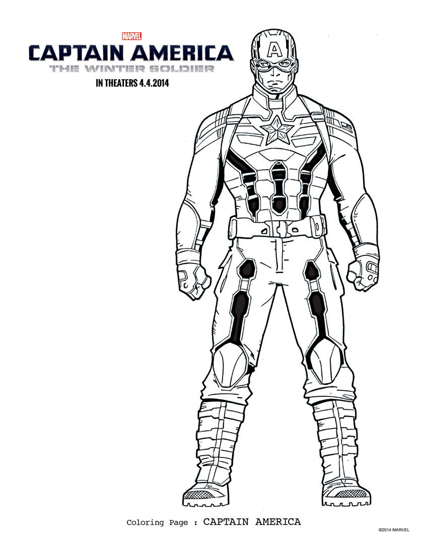 - Cool Captain America Motorcycle Coloring Pages AnyOneForAnyaTeam