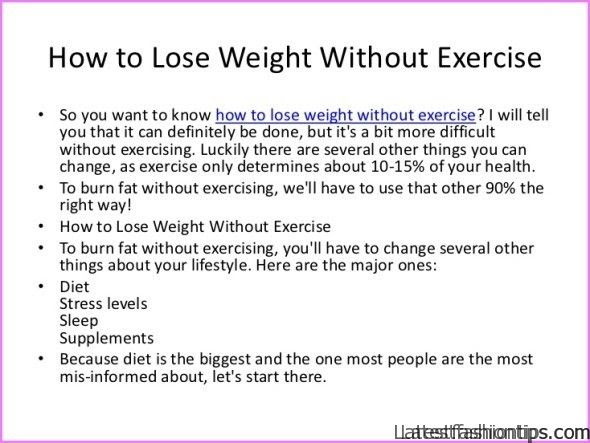 Weight Loss Tips Without Exercise Latestfashiontips Com