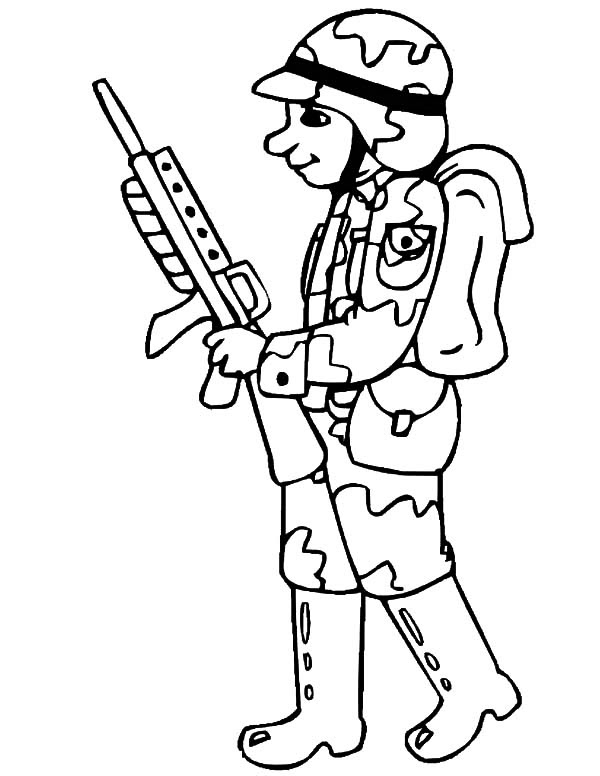 Soldier Drawing Easy at GetDrawings | Free download