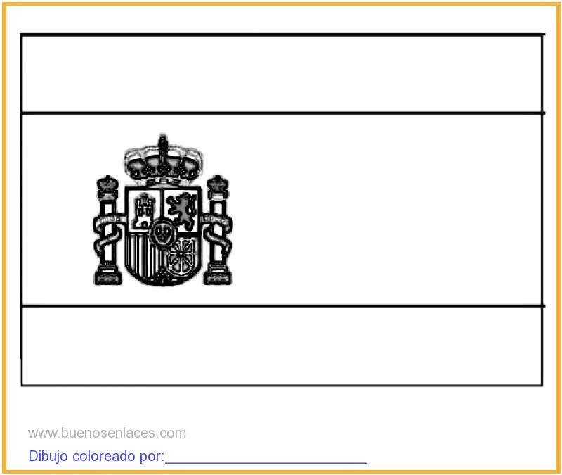 Dibujo De Bandera De España Para Colorear E Imprimir