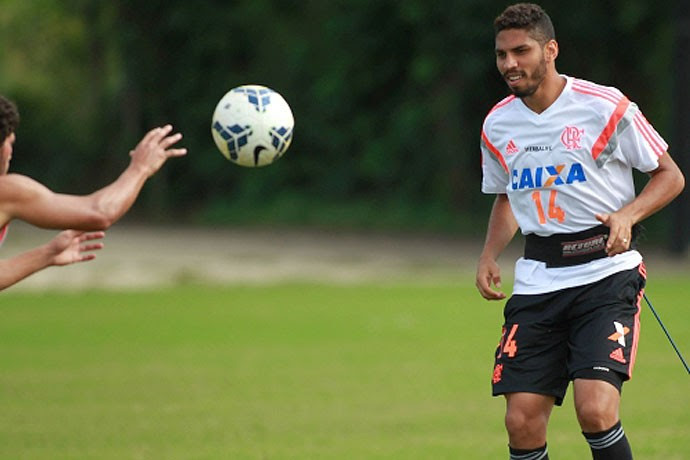 Wallace treino Flamengo (Foto: Site Oficial do Flamengo)