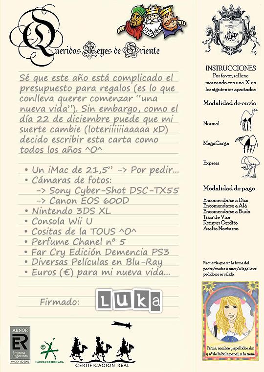 Queridos Reyes Magos... (x_luka)