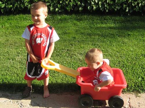 Boys in the backyard