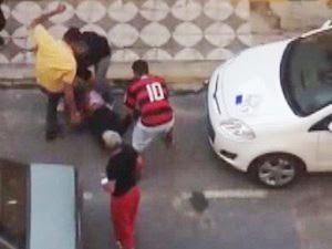 Agressão foi registrada por internauta no centro de Sorocaba (Foto: Reprodução)