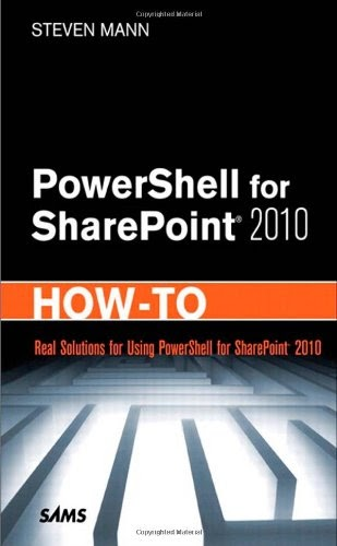 [PDF] PowerShell for SharePoint 2010 How-To Free Download
