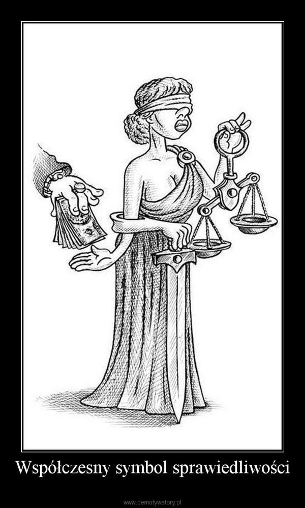 Współczesny symbol sprawiedliwości –