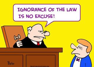 Image result for What is ignorance of the law?