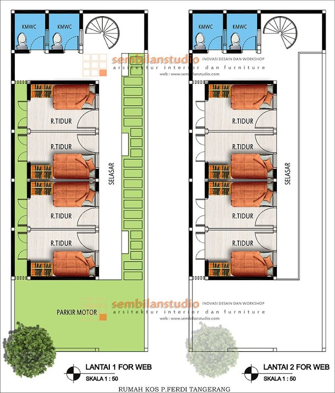 Desain Rumah Kos Kosan Minimalis | Ide Rumah Minimalis
