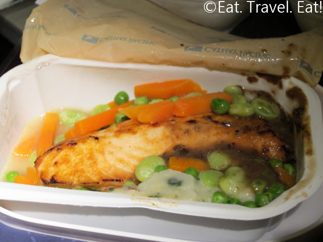 Cathay Pacific Dinner- Salmon