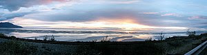 This is a eight-photo panorama of Cook Inlet's...