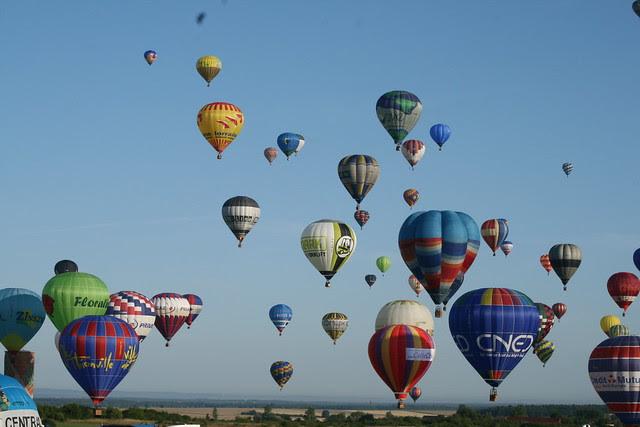Chambley - Lorraine Mondial Air Ballons - Record du Monde en ligne - 26 juillet 2009