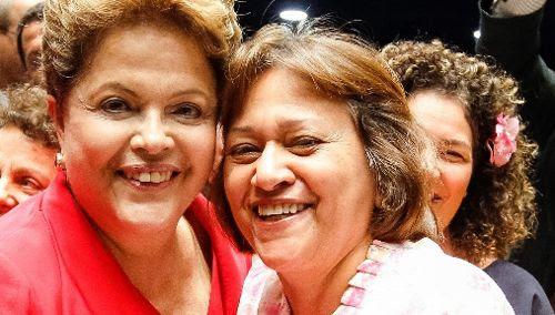Resultado de imagem para Dilma e Fátima Bezerra