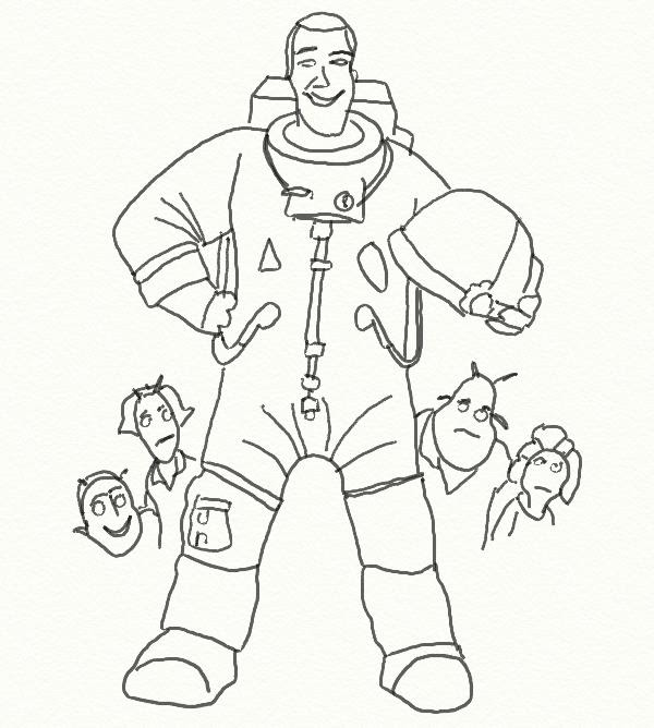 Dibujo Para Colorear Películas En Los Cines Planet 51 Chuck 2