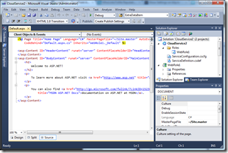 Visual Studio 2010 with Cloud Service in Administrator Mode