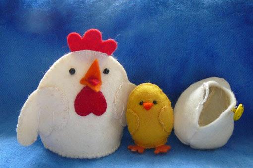 Felthen com ovo e da galinha