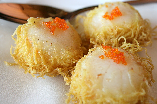 Deep-fried Scallops Wrapped in Filo Pastry