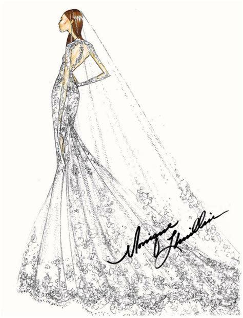Pippa Middleton's wedding dress: designer sketches