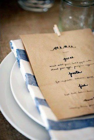 paper bag menus. I love paper bags.