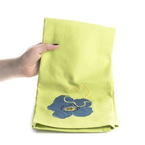 Olivia Embroidered Cloth Dish Towel   Kitchen Towels