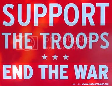 Sign reading Support the Troops - End the War
