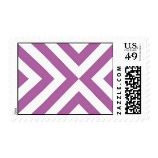 Lavender and White Chevrons Postage