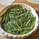 Asparagus and ricotta pie