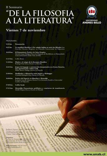 Seminario De la Filosofía a la Literatura UNAB por ti.