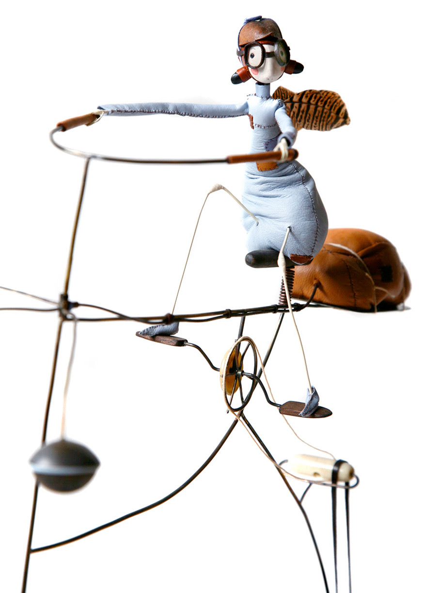 Desire to Fly: Samantha Bryans Hand Crafted Sculptures of Whimsical Aviator Fairies Going about Their Daily Lives sculpture fairies