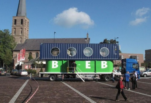 BiebBus: le container devenu bibliothèque