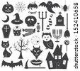 Halloween Icons Vector Set - stock vector