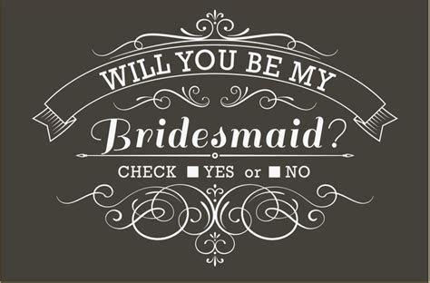 Will You Be My Bridesmaid Invitation: Black & White, Check